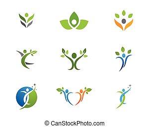 Logotipo de vida saludable