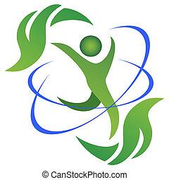 Logotipo de vida saludable y natural