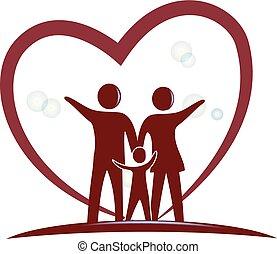 Logotipo del amor familiar