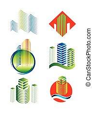 Logotipo del edificio arquitectónico