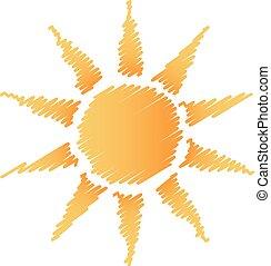 Logotipo del sol abstracto