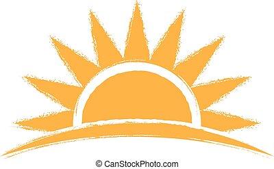 Logotipo dibujado a mano. Ilustración gráfica Vector
