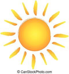 Logotipo dibujado por el sol. Diseño de vectores
