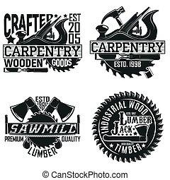 logotipo, diseño, vendimia