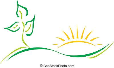 logotipo, ecología