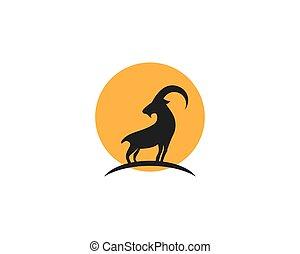 logotipo, goat, plantilla