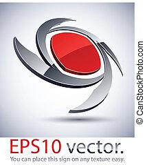 logotipo, icon., hoja, moderno, 3d
