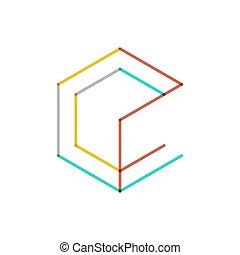 logotipo, línea, diseño, mínimo