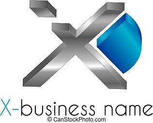 logotipo, letra x