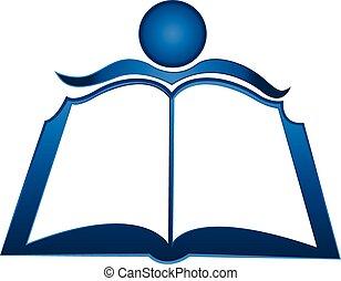 logotipo, libro, estudiante