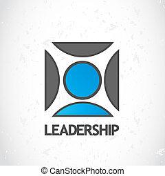 logotipo, liderazgo, diseño