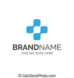 logotipo, más, resumen, símbolo