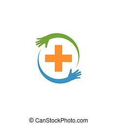 Logotipo médico de salud