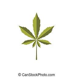 logotipo, naturaleza, hoja, cannabis, salud