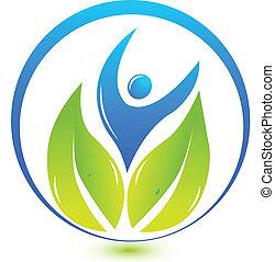 logotipo, naturaleza, salud, gente
