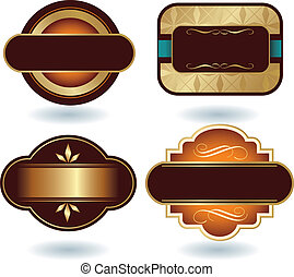 logotipo, plantilla, chocolate