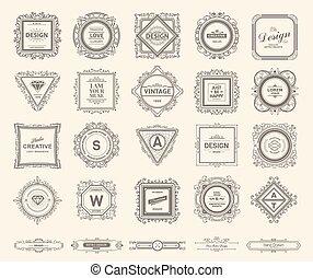 logotipo, plantilla, lujo, monogram