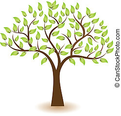 logotipo, símbolo, vector, árbol