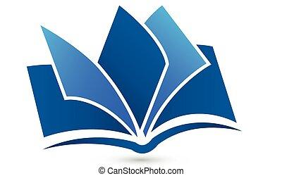 logotipo, símbolo, vector, libro