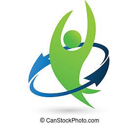 logotipo, salud, naturaleza