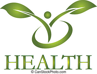 logotipo, sano, vector, vida