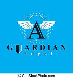 logotipo, santo, educativo, vector, religioso, gráfico, uso, organizations., espíritu
