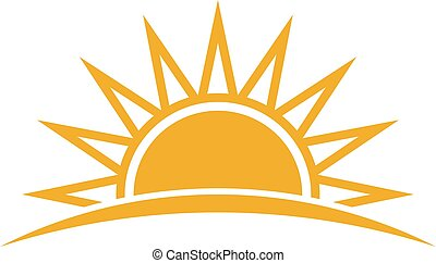 Logotipo solar. Ilustración de vectores