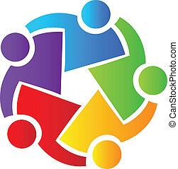 logotipo, trabajo en equipo, empresarios