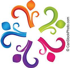 logotipo, trabajo en equipo, humanidad
