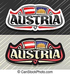 logotipo, vector, austria