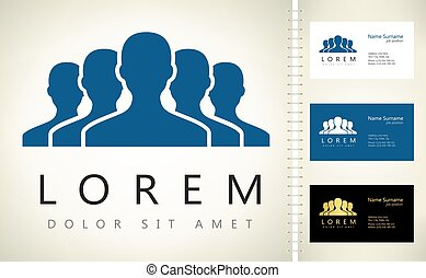 logotipo, vector, design., gente, grupo