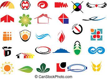logotipo, vector, elementos