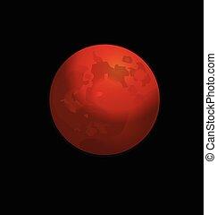 Logotipo vector luna llena roja