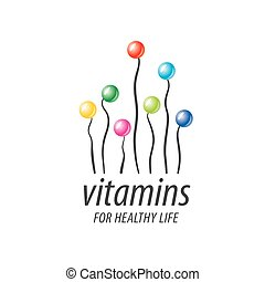 logotipo, vector, vitaminas