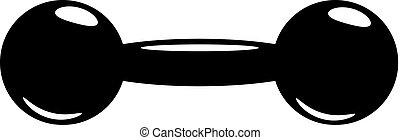 Logotipo vectorial de Barbell, ilustración estilizada.