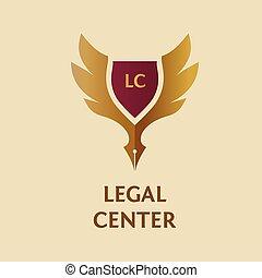 Logotipo vectorial para organización legal, notaria