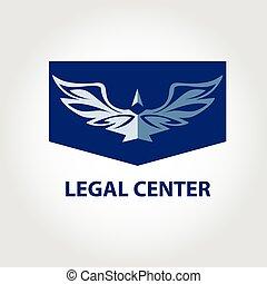 Logotipo vectorial para organización legal, notaria. Illustratio