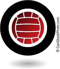 logotipo, voleibol