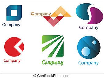 logotipos, empresa / negocio, muestras, paquete