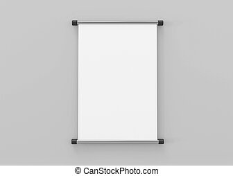 lona, papel, ilustración, arriba, textura, 3d, render, bandera, gris, plano de fondo, aislado, rollo
