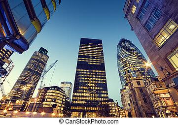 london., ciudad, rascacielos
