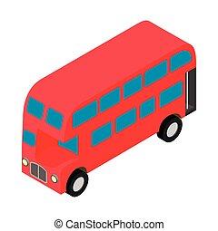 London Double Decker Busicon rojo
