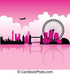 London magenta Skyline