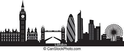 London Skyline con la ciudad de texto