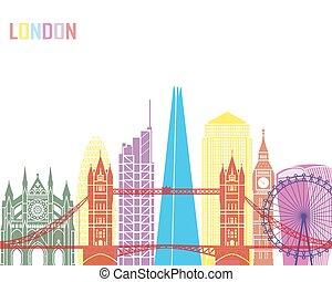 London V2 skyline pop