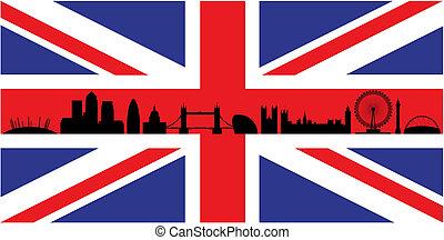 Londres en la bandera del sindicato Jack
