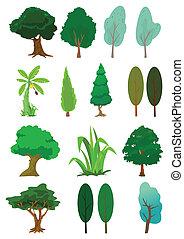 Los árboles ilustran el vector