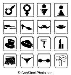 Los íconos de género se pusieron negros