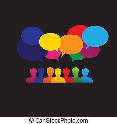 Los íconos de la gente en internet en las redes sociales son vectores gráficos