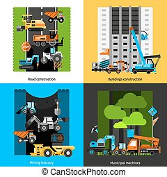 Los íconos de la industria de la construcción